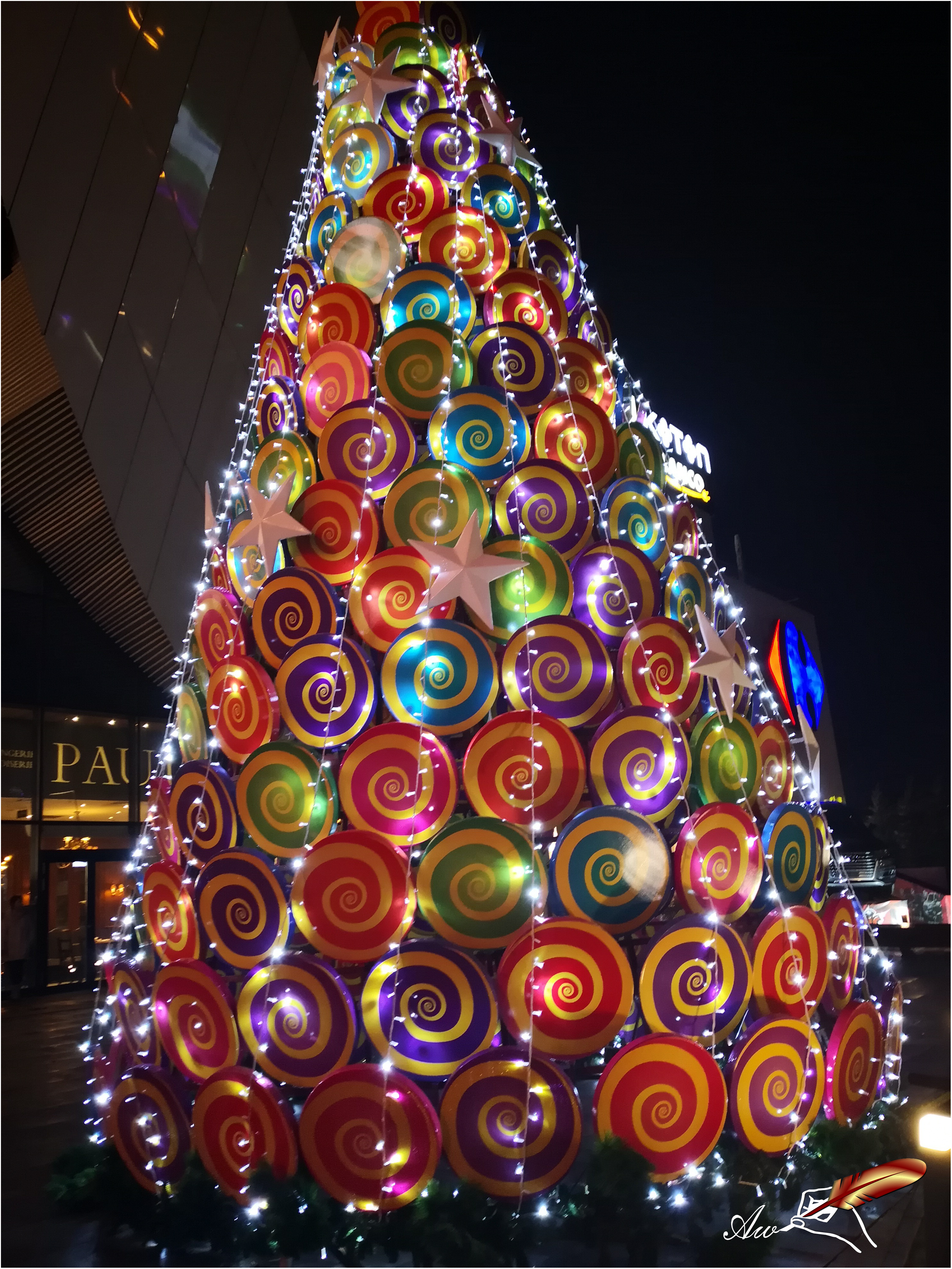 Candy Christmas tree - by Andrada Anitei