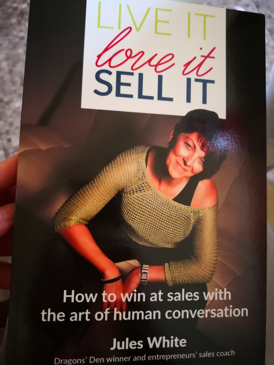 """Live it, love it, sell it"" front cover"